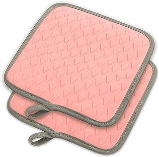 tophome multiusos cuadrado guantes de horno para asar guantes de silicona secado Mat silicona manoplas de antideslizante resistente al calor caliente almohadillas insulationwaterproof