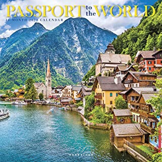 Graphique Passport to The World Wall Calendar, 16-Month 2022 Wall Calendar with Historic Global Landmark Photographs, 3 La...
