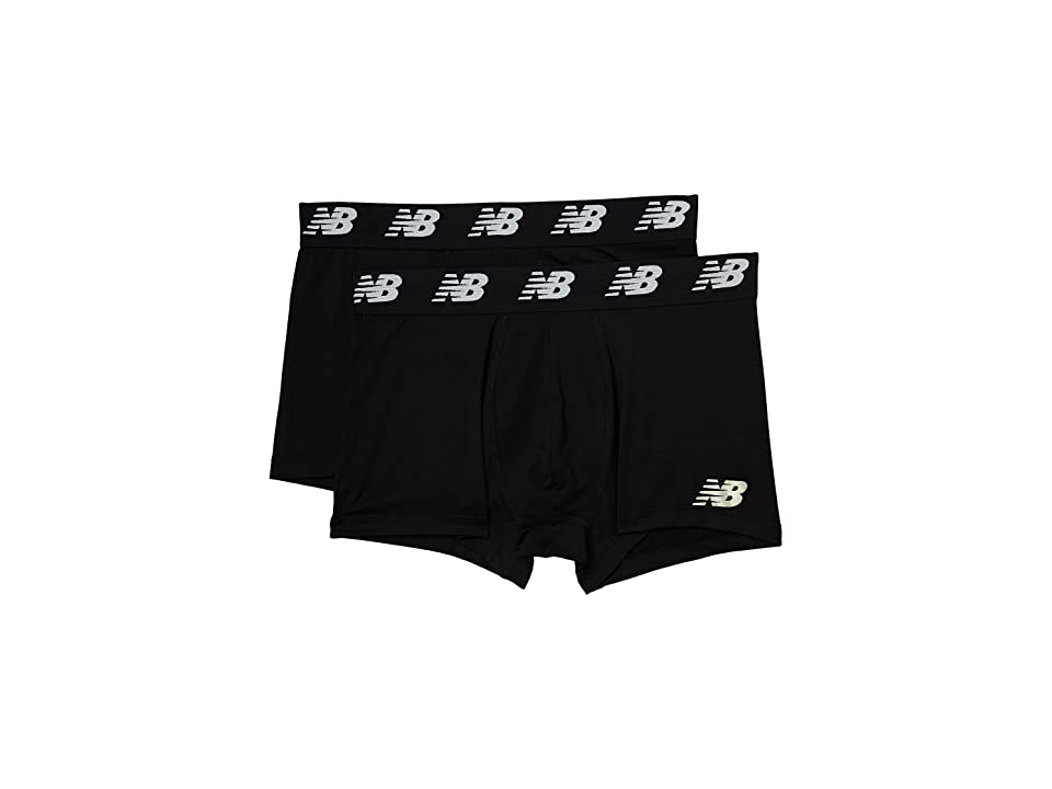 New Balance NB Premium Performance 3 Trunk 2-Pack (Black/Black) Men