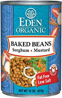 Eden Organic Baked Beans with Sorghum and Mustard, 15-Ounce Cans (Pack of 12)