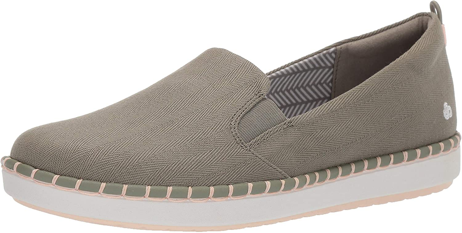 Clarks Damen Step Glow Slip, Dusty Olive Canvas, 38.5 EU