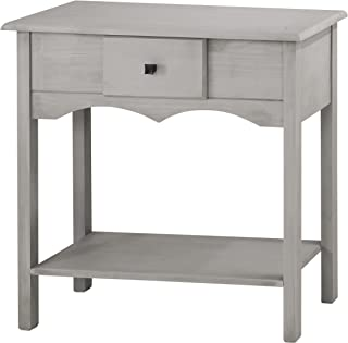 Manhattan Comfort Jay Collection Modern Wooden Sideboard Table with One Drawer and One Shelf, Gray