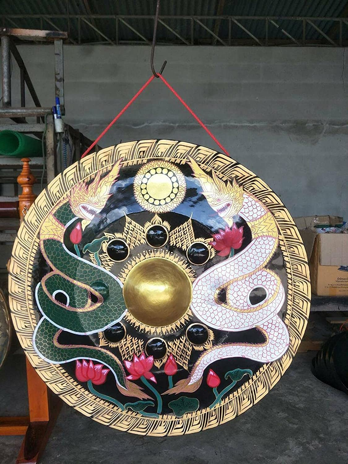 5 popular Hand Crafted 40 Inch Thai Gong Deep Meditation Courier shipping free shipping for Relaxatio and