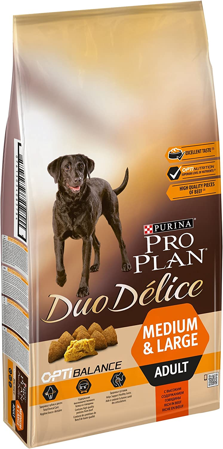 Purina Pro Plan Duo Delice Adult Dog Food Rich in Beef, 10 kg