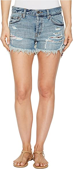 Free People - Embroidered Destroyed Shorts