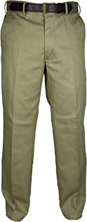 Mens Classic Chino Trousers with a Belt Sizes 32-54 in Beige and Navy Short Regular Long 100% Cotton Summer Pant Bottom Sm...
