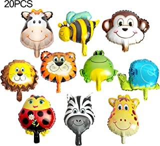 20PCS Animal Head Balloons for For Jungle Safari Animals Theme Birthday Party Decorations Kids Gift Birthday Party Décor by SBYURE