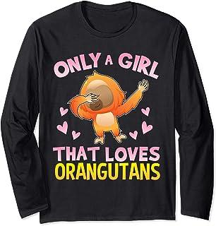 Girl that Loves Orangutan Gifts Save The Orangutans Long Sleeve T-Shirt