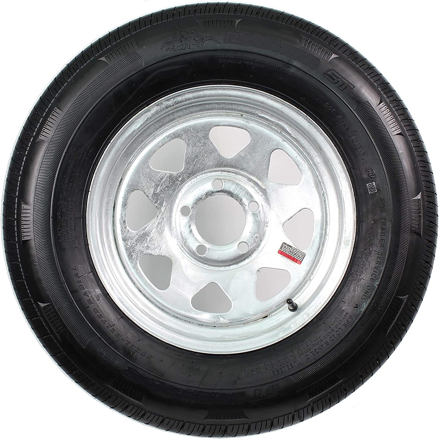 Radial Trailer Tire Animer and price revision On Galvanized Rim ST225 5 Sale SALE% OFF 4 Lug LRD 75R15
