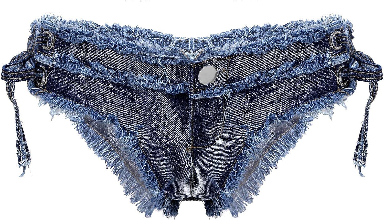 WinChang Women's Sexy Denim Jeans Shorts Mini Hot Pants Booty Shorts Clubwear