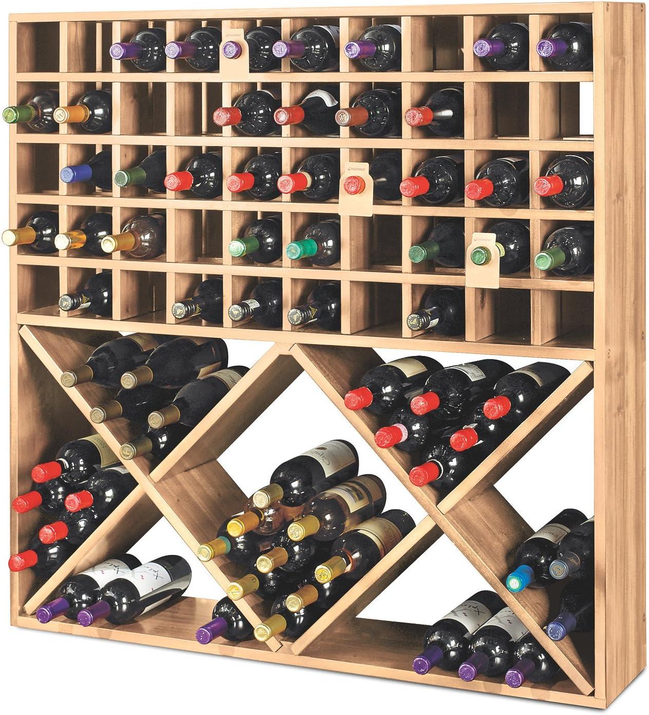Jumbo Bin Grid 100 Bottle Wine Ranking Max 60% OFF TOP8 Unstained - Rack