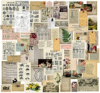 Craft Supplies Vintage Journal Ephemera Pack by CATaireen Scrapbook Accessories Card Making Collage Kit Stickers for Scrap...