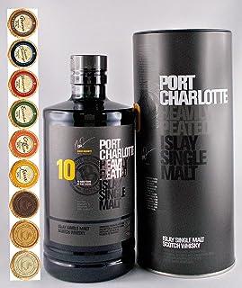 Port Charlotte 10 Jahre Islay Single Malt Whisky  9 Edel Schokoladen in 9 Sorten