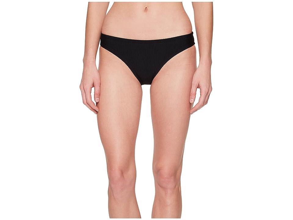 Nike Ribbed Bikini Bottom (Black) Women