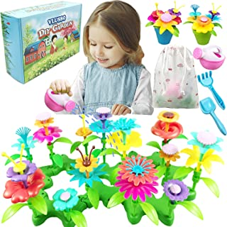 VLUSSO Gifts Toys for 3-6 Year Old Girls, DIY Flower Garden Building Kits Educational Activity for Preschool Toddlers Pret...