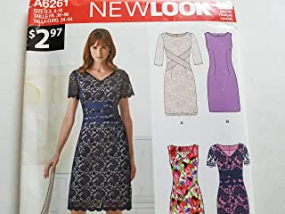 Simplicity Creative Patterns New Look 6261 Misses' Dress with Neckline Variations, A (8-10-12-14-16-18)