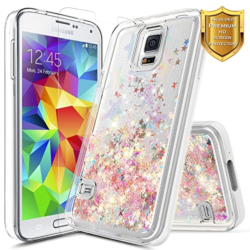 meet 5708d 5fbd4 Glitter and Water Galaxy S5 Case: Amazon.com