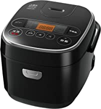 【Amazon.co.jp限定】アイリスオーヤマ 炊飯器 マイコン式 5.5合 極厚銅釜 銘柄炊き分け機能付き ブラック SmartBasic