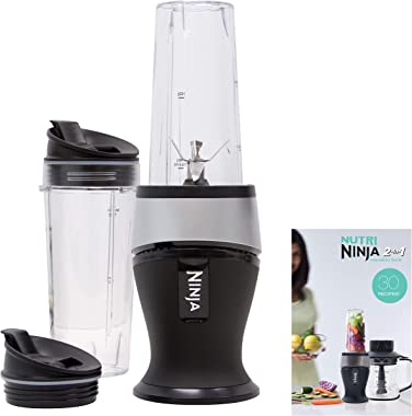 Ninja Personal Blender for Shakes, Smoothies, Food Prep, and Frozen Blending with 700-Watt Base and (2) 16-Ounce Cups with Sp