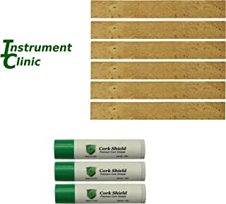Instrument Clinic Bulk Clarinet Tenon Cork, 6 Pack, with Cork Grease