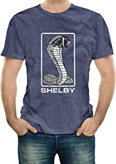 Shelby American Tall Snake Tee T-Shirt Denim Heather | Officialy Licensed Shelby Product | Preshrunk Jersey