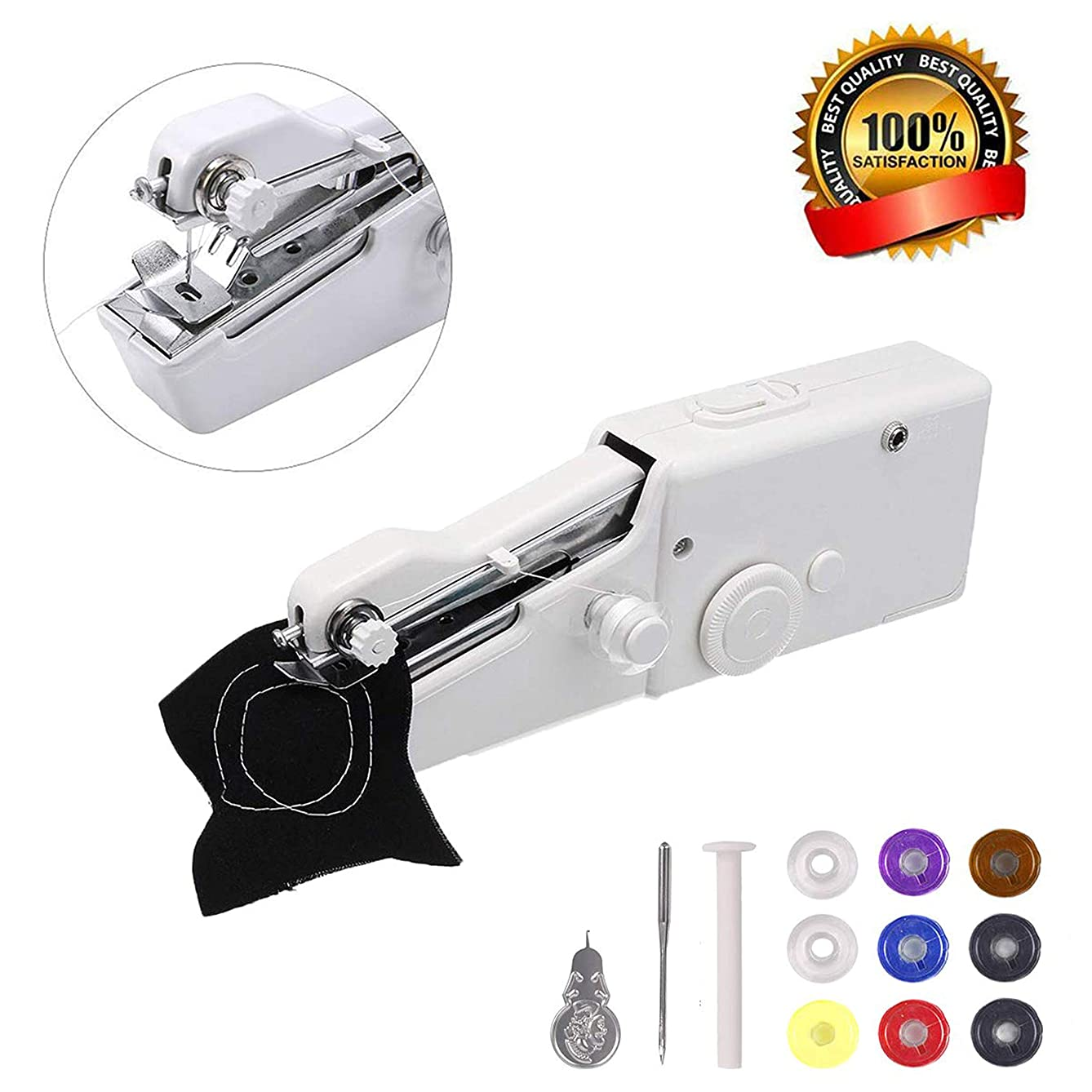 Portable Sewing Machine | Handheld Sewing Machine | Mini Sewing Machine for Home Travel Stitching | Quick Repairs Fabric Sewing DIY Craft Home Travel Use