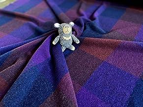 【尾州ウール アンゴラ カシミヤ ウールガーセ】 ネイビーマスブロック 鮮やか 国産 尾州 羊 ハンドメイド 手作り 縫製 小物作り 羊 素材