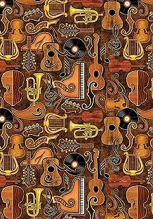 Toland Home Garden Joyful Noise 28 x 40 Inch Decorative Musical Instrument Piano Guitar Bass Horn House Flag