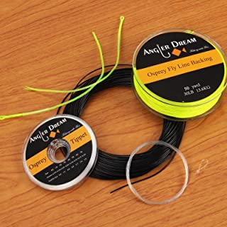 ANGLER DREAM Weight Forward Fast Sink Fly Fishing line Combo 100FT WF 5 6 7 8 9 S Fly line with Backing Leader Tippet Kit