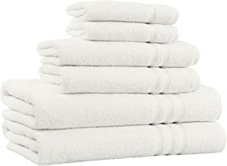 100% Cotton 6-Piece Towel Set - 2 Bath Towels, 2 Hand Towels, and 2 Washcloths - Super Soft Hotel Quality, High Absorbent Quick Dry Towel, and Fade-Resistant - 650 GSM - Made in India (Ivory)