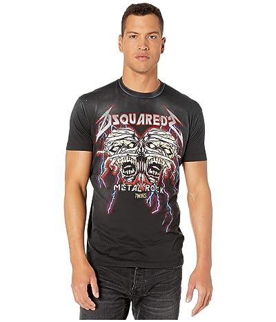 DSQUARED2 Zombie Metal Rock Cool Fit T-Shirt (Black) Men