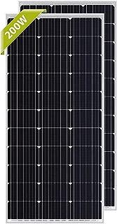 Newpowa 100 Watt Monocrystalline 100W 12V Solar Panel High Efficiency Mono Module RV Marine Boat Off Grid … (2 pcs)