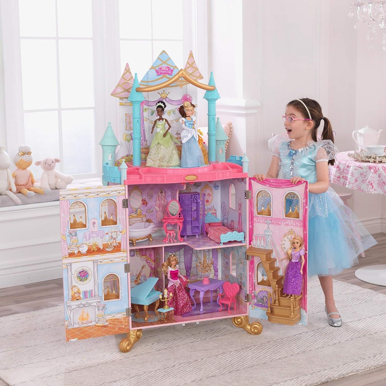KidKraft Disney Princess Dance & Dream Wooden Dollhouse, Over 4-Feet Tall...