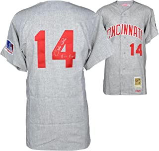 Pete Rose Cincinnati Reds Autographed 1969 Mitchell & Ness Gray Jersey with Hit King Inscription - Fanatics Authentic Certified