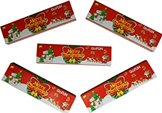 GoFun RT - Merry Christmas Kingsize Rice Rolling Papers & Filter Tips (Pack of 5)