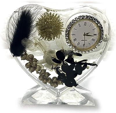Lulu's ルルズ ハーバリウム 花時計 Flower clock ゴージャススワロフスキー プリザーブドフラワー ドライフラワー サイズ:幅約10cm×高さ約11cm×厚さ約3cm ゴージャススワロフスキー Lulu's-1384