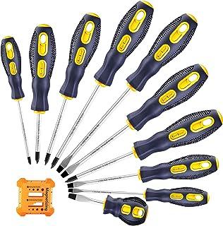 پیچ گوشتی-مغناطیسی-ابزار-مجموعه-فیلیپس-نکات سر تخت پیچ درایور Craftsman Small Flathead بدون لغزش برای تعمیر کار صنایع دستی خانگی