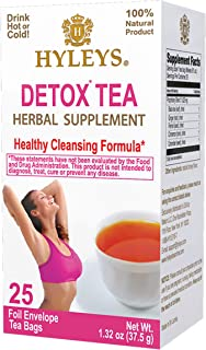 Sponsored Ad - Hyleys Wellness Detox Green Tea - 25 Tea Bags (100% Natural, Sugar Free, Gluten Free and Non-GMO)