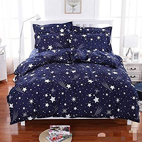 Color Fastened Beautiful Double Bed Sheet with Two Pillow Covers in Star Collection by Weave Well (Ideal for Mattress of 6 ft x 7.25 ft)