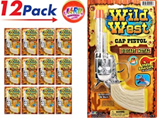 JA-RU Wild West Cap Gun Pistol (Pack of 12 Units) and one Bouncy Ball Diecast Metal Replica. 2442-12p