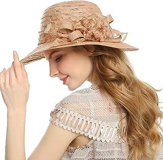 Women Girls Summer Sun Hat - Foldable Wide Brim Beach Sun Cap for Ladies UPF50+