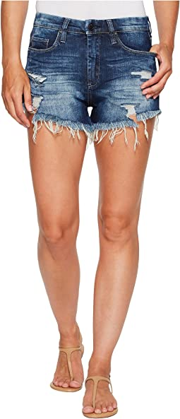 Blank NYC Denim Distress Wedge Short in Fit Of Rage