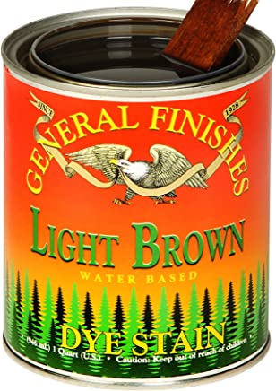 General Finishes DGL Water Based Dye 1 Gallon Light Brown