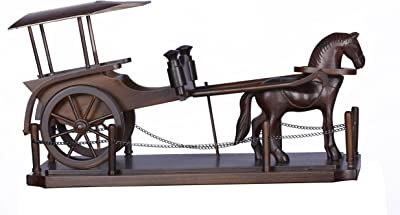 Brama Store Carved Wood Horse Carriage