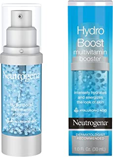 Neutrogena Hydro Boost Multivitamin Hydrating & Revitalizing Face Serum with Vitamin E, Niacinamide & Hyaluronic Acid to M...
