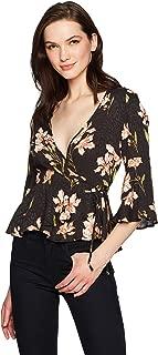 MINKPINK Women's Nightshade Floral Print Wrap Top