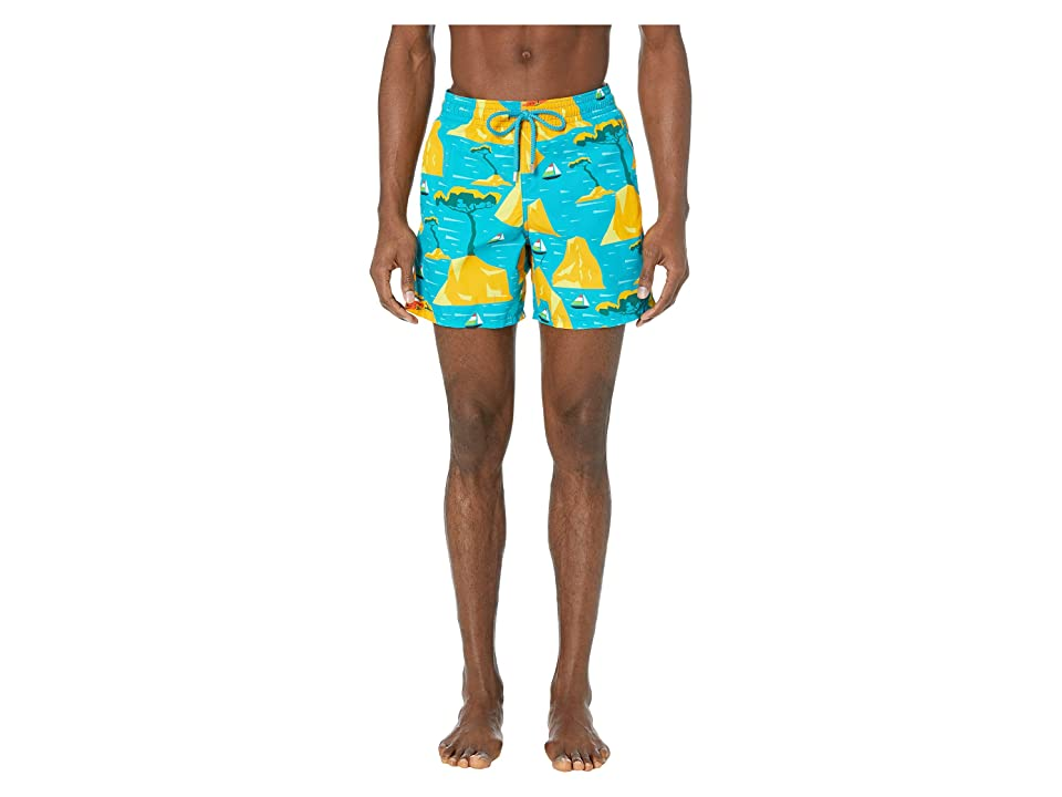 7e769986eb Vilebrequin Capri Moorea Swim Trunks (Bahama Blue) Men's Swimwear