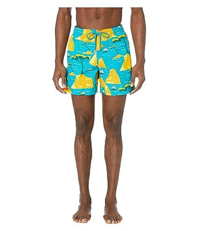 Vilebrequin Capri Moorea Swim Trunks (Bahama Blue) Men