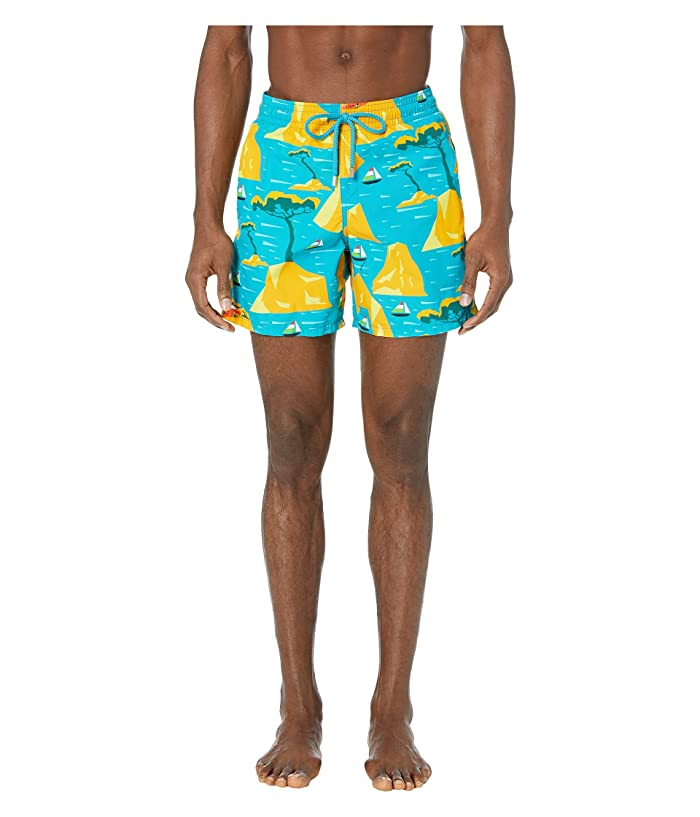 e42e4d6993 Vilebrequin Capri Moorea Swim Trunks (Bahama Blue) Men