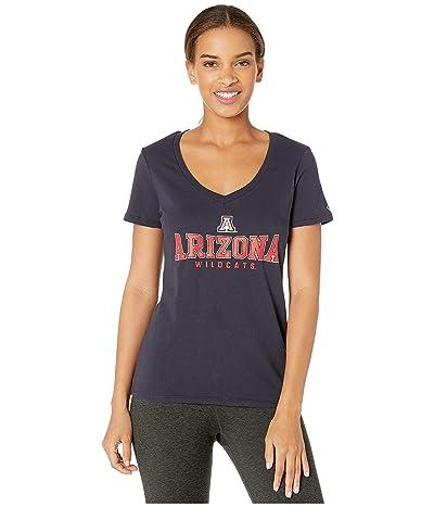 Champion College Arizona Wildcats University V-Neck Tee (Navy) Women